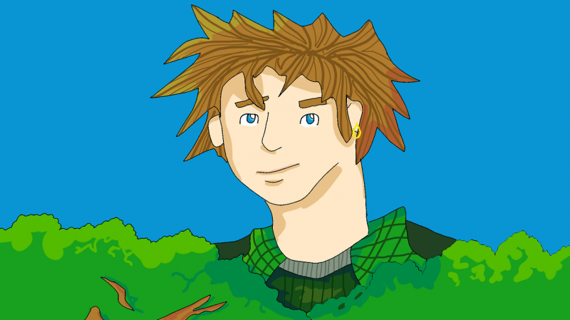 William peeking out of the treetops (small).png