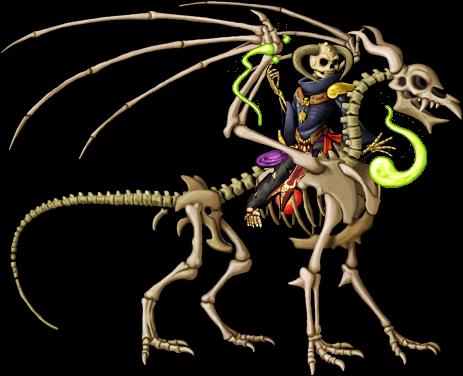 Skeleton Warlock Rides Skeleton Dragon.png