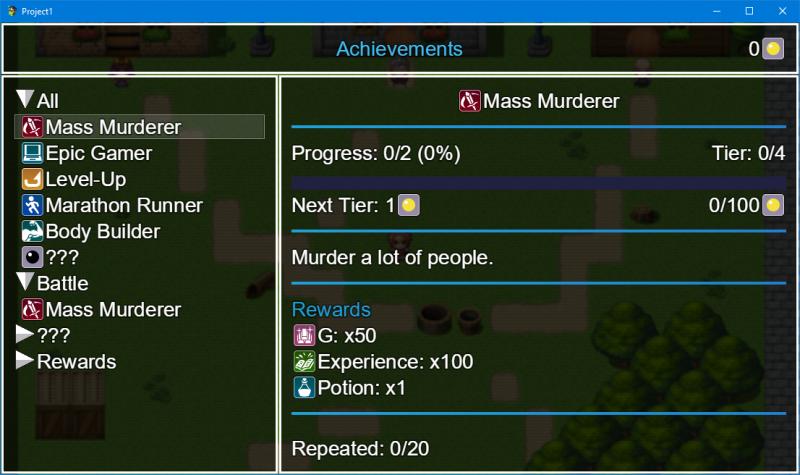 Repeatable achievements