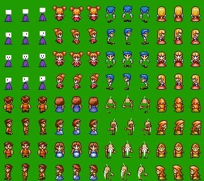 rpgmaker 2003 sprites have green background when i add it to game
