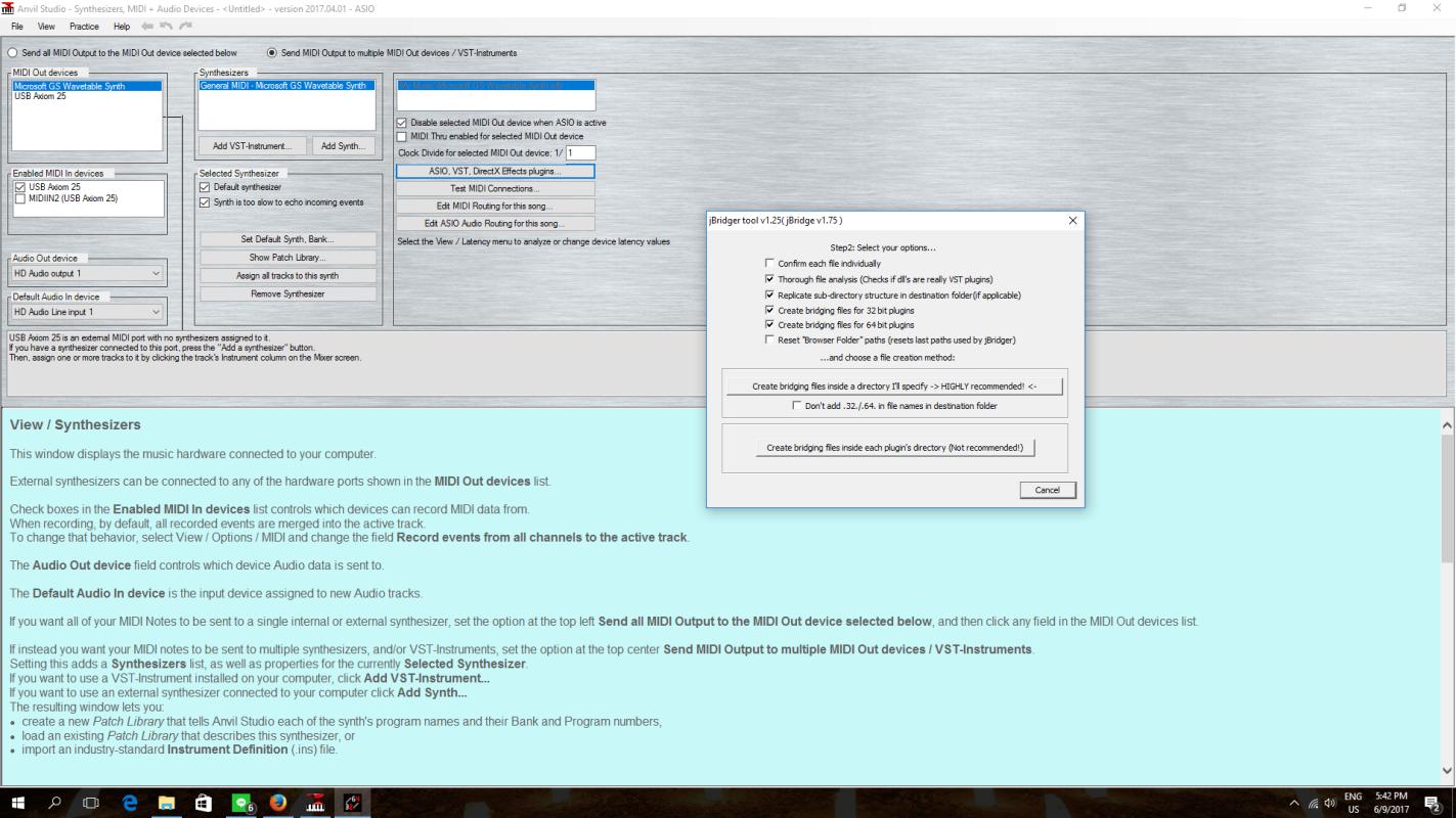 No MIDI sound using Anvil Studio only when composing? | RPG