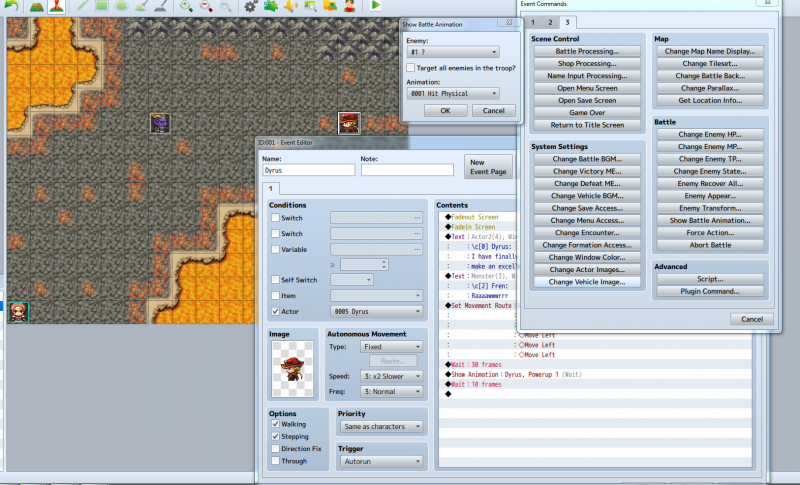 Show battle animation has ? next to enemy  | RPG Maker Forums