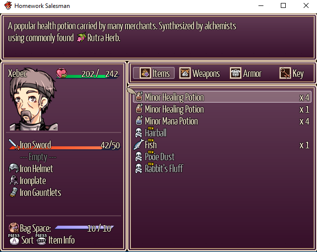 Need Limited Inventory Plugin | RPG Maker Forums
