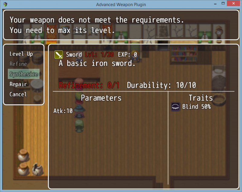 Advanced Weapon Plugin [V1 3 5] | RPG Maker Forums
